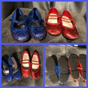 Size 9 girls glitter sparkle shoes 4th of July!
